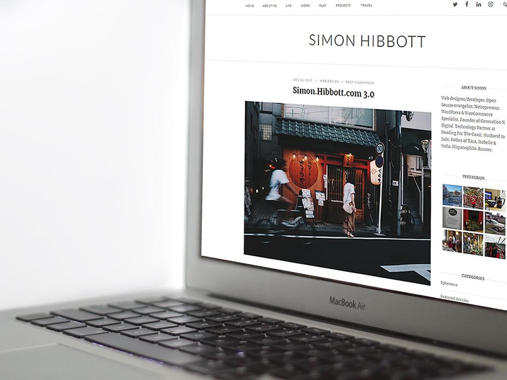 Simon.Hibbott.com 3.0